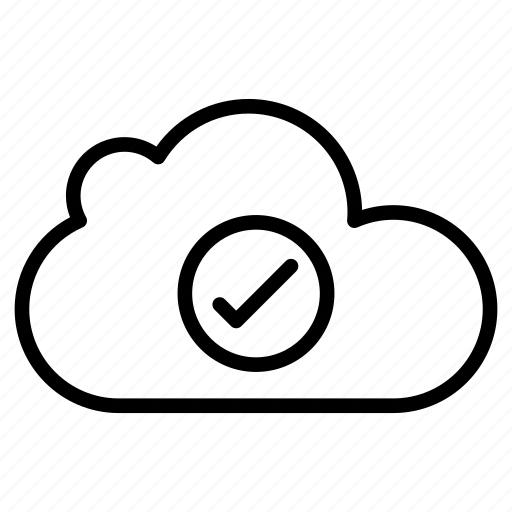 check, cloud, complete, database, tick icon