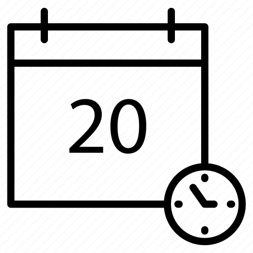 calendar, date, deadline, event, stopwatch icon