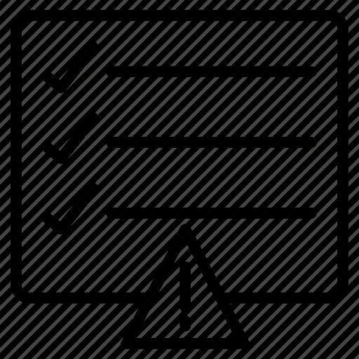 checklist, error, project, tasklist, warning icon