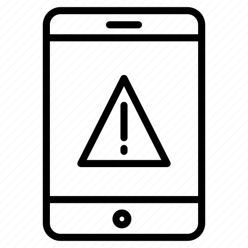 cell, error, mobile, phone, warning icon