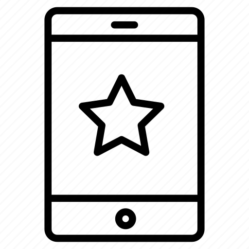 cell, favorite, mobile, phone, starred icon