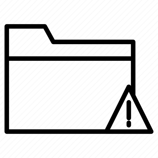 directory, error, files, folder, warning icon