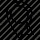 error, gps, map, pin, warning icon