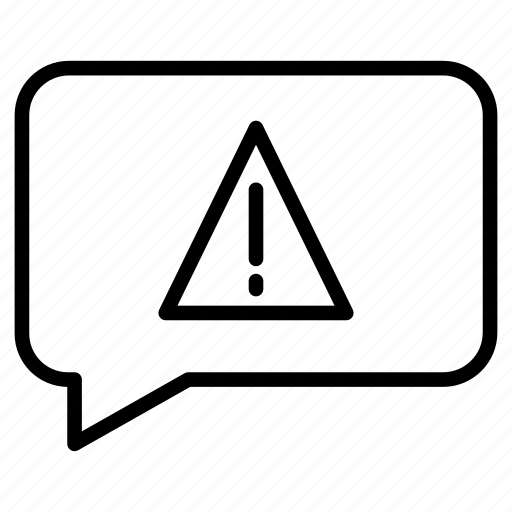 bubble, comment, error, message, warning icon