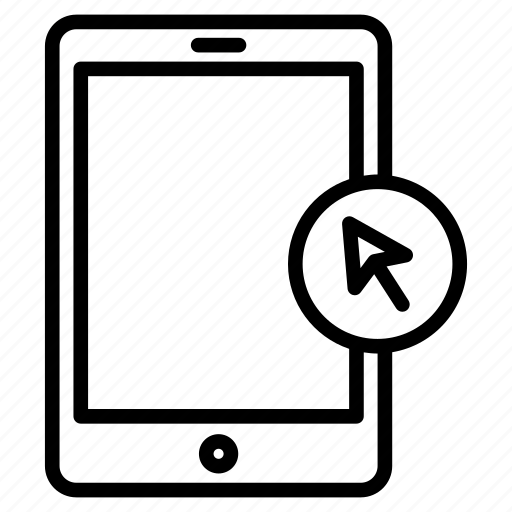 cell, cursor, device, mobile, phone icon