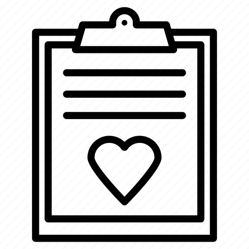 clipboard, document, favorite, heart, project icon