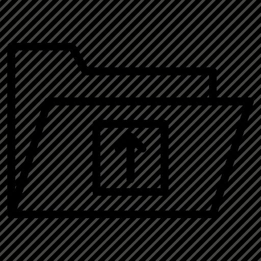 directory, drawer, files, folder, upload icon