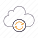 backup, cloud, refresh, reload, storage icon