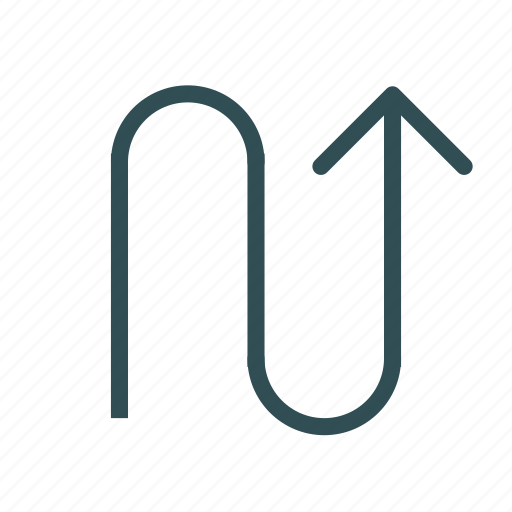 arrow, curbe, curve, up icon
