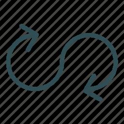arrow, infinite, repeat icon