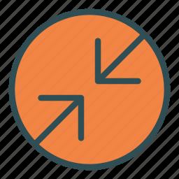 arrow, circle, contradiction, two icon
