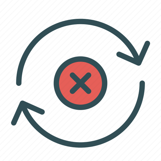 arrow, cancel, circle, multiply, repeat, sign icon