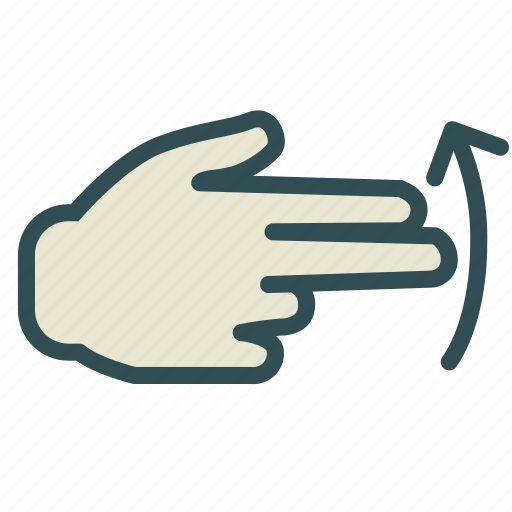 arrow, finger, hand, right, up icon
