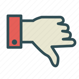 denied, finger, hand, negative, no icon