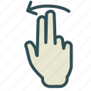 arrow, finger, hand, left, swap, swipe icon