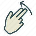 arrow, finger, hand, swap, swipe, up icon