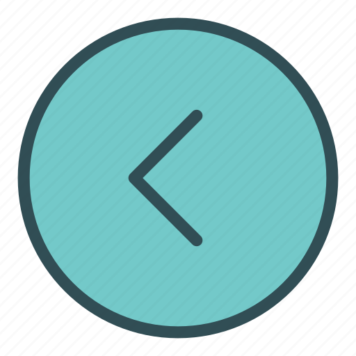 arrow, character, circle, left, shape, sign icon