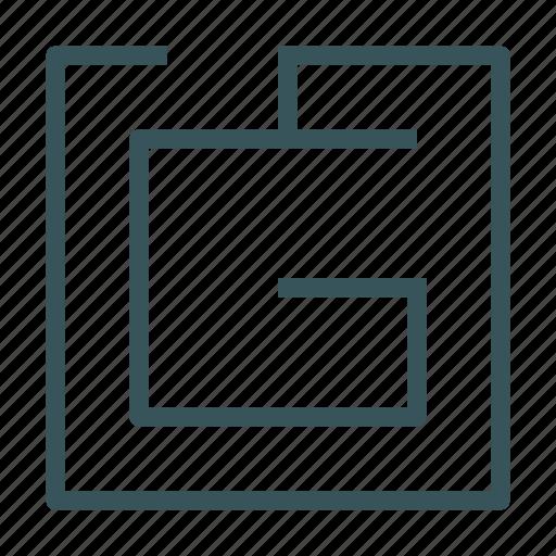 labyrinth, maze, no, out, way icon
