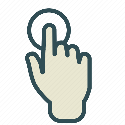 finger, hand, press, touch icon