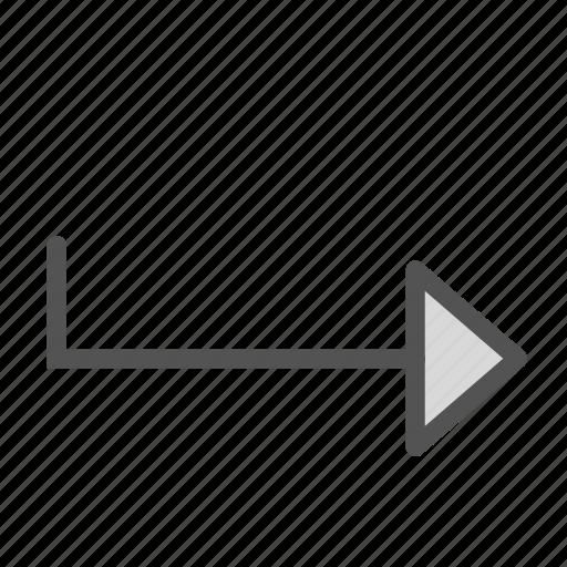 arrow, enter, right, sign icon