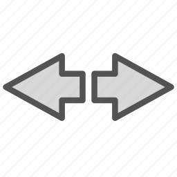 arrow, left, opposite, right icon
