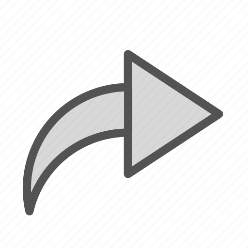 arrow, reply, right, sign icon
