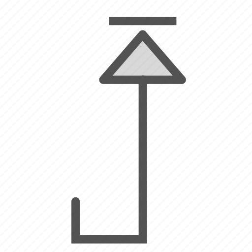 arrow, squared, up icon