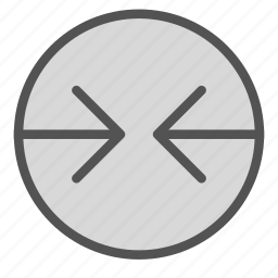arrow, circle, contradiction, left, right icon