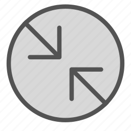 arrow, circle, contradiction, point icon