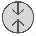 arrow, circle, contradiction, down, up icon