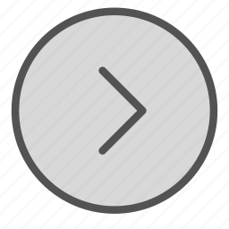 arrow, character, circle, right, shape, sign icon
