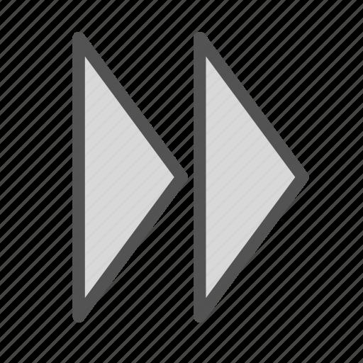 fastforward, right, sign icon