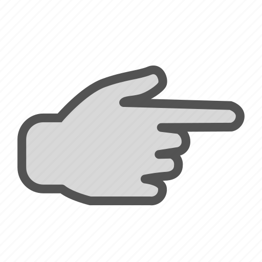 finger, hand, pointing, right icon