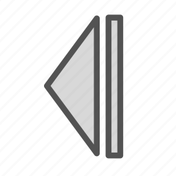 left, pause, play, sign icon