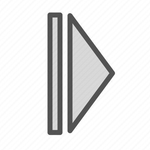 pause, play, right, sign icon
