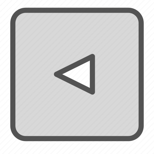 left, play, sign icon