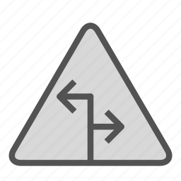 arrow, sign, two, way icon