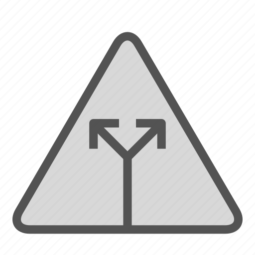 crossroad, sign, two, way icon