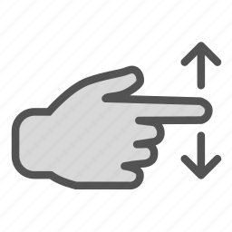 arrow, finger, hand, move, screen, swipe, touch icon