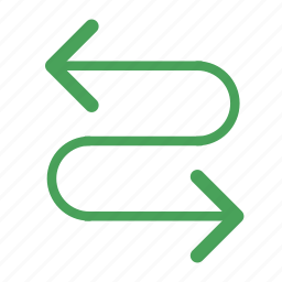 arrow, curbe, curve, left, right icon