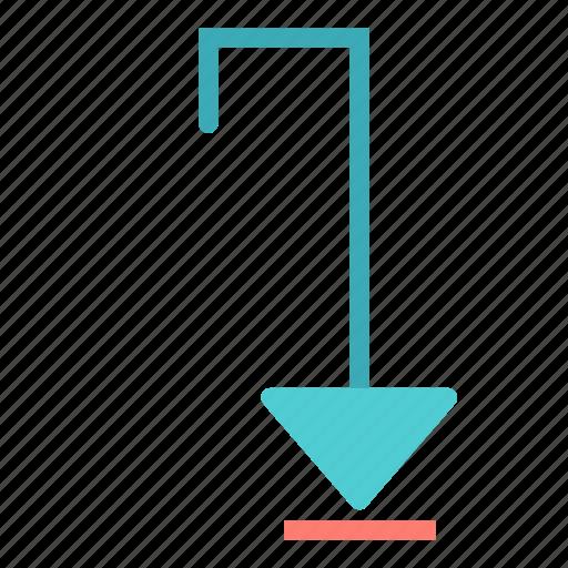 arrow, down, squared icon