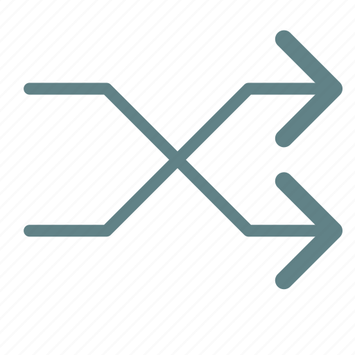 arrow, intersection, right icon