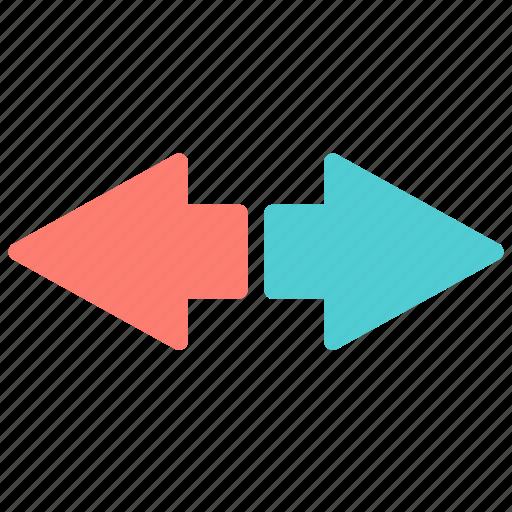 arrow, left, opposite, right icon