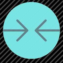arrow, circle, contradiction, left, right icon