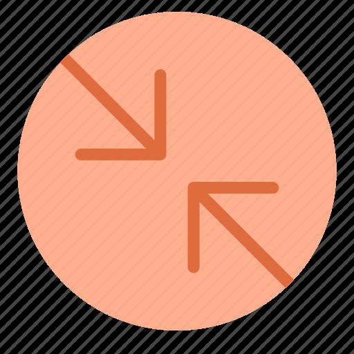arrow, circle, contradiction, point icon