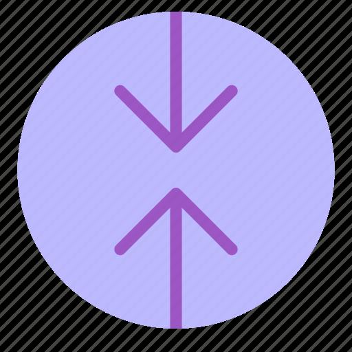 arrow, circle, contradiction, down, up icon
