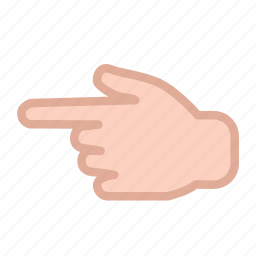 finger, hand, left, pointing icon