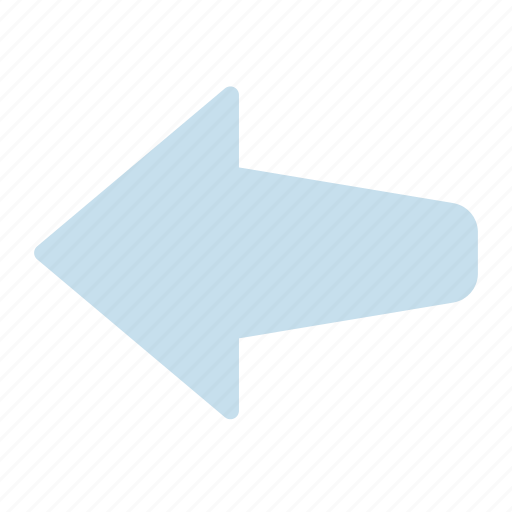 arrow, left, pointing icon