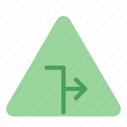 arrow, blocked, sign, two, way icon