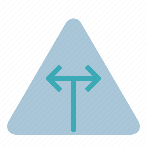 arrow, crossroad, sign, split, two, way icon